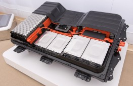 Nissan Leaf, battery pack cutaway