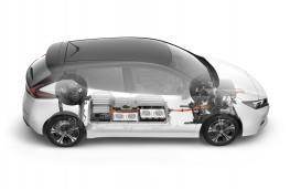Nissan Leaf, 2018, cutaway graphic