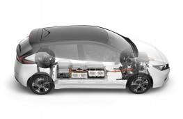 Nissan Leaf, 2017, cutaway