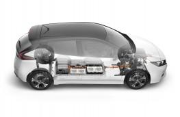 Nissan Leaf, 2018, cutaway