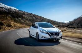 Nissan Leaf, 2018, front, action