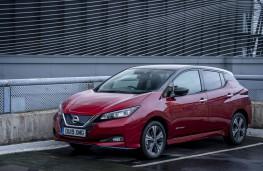 Nissan Leaf e+, 2019, front, static