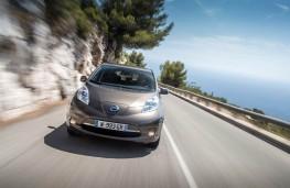 Nissan Leaf 2105, front, action