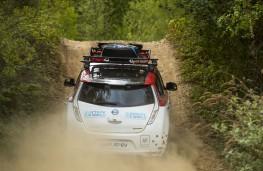 Nissan LEAF AT-EV, 2017, rear, action