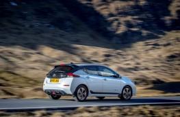 Nissan Leaf, 2018, rear, action