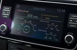 Nissan Leaf e+, 2019, display screen