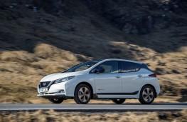 Nissan Leaf, 2018, side, action