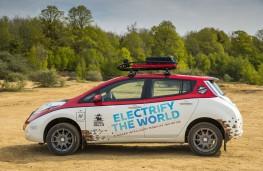 Nissan LEAF AT-EV, 2017, side, static