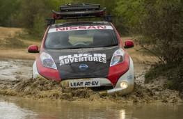 Nissan LEAF AT-EV, 2017, front, water
