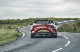 Lexus LC 500 Convertible, 2020, rear, action