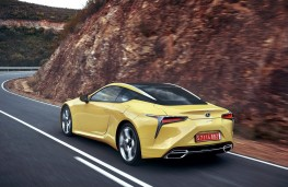 Lexus LC 500, 2017, rear, action