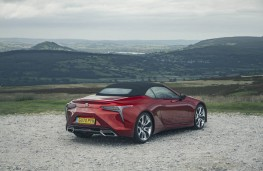 Lexus LC 500 Convertible, 2020, rear, static