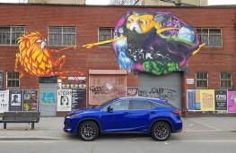 Lexus RX 450h F Sport - even the graffiti's social distancing