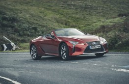 Lexus LC 500 Convertible, 2020, side, action