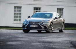 Lexus LS 500h, 2018, front, action