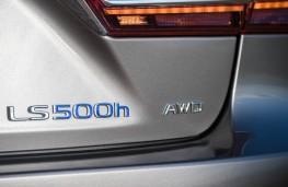 Lexus LS 500h, 2018, badge