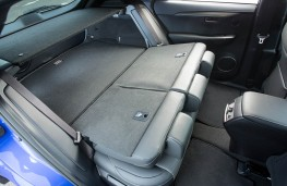 Lexus NX 300h F Sport, rear seats folded