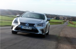 Lexus RC 300h, 2017, front, action