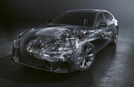 Lexus LS 500h, 2018, cutaway