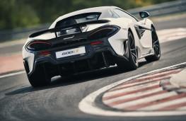 McLaren 600LT, 2018, rear, action