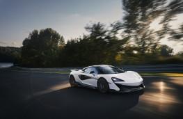 McLaren 600LT, 2018, side, action