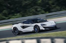 McLaren 600LT, 2018, side, track