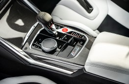 BMW M3 Competition, 2021, gear lever