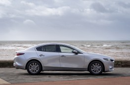 Mazda3 SkyActiv-X saloon, 2019, side, static