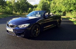 BMW M4 Convertible, front, roof open