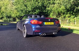 BMW M4 Convertible, rear, roof open