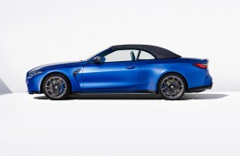 BMW M4 Competition Convertible M xDrive, 2021, side, roof up