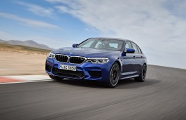BMW M5, 2017, front, action