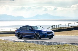 BMW M5, 2018, side, action