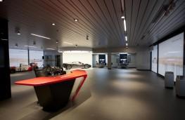Inside McLaren Birmingham dealership