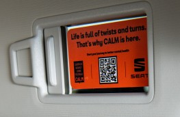 SEAT CALM mental health campaign, 2020, card