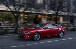 Mazda6 saloon, 2017, side, action