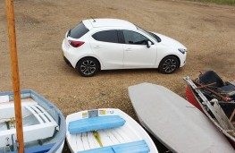 Mazda2, above with boats