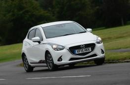 Mazda2 Sport Black, front action
