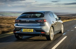 Mazda3 in Polymetal Grey, rear