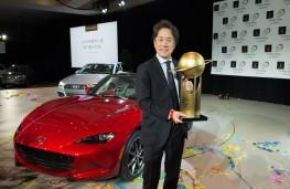 Mazda MX-5, World Car of the Year 2016, with Masahiro Moro, Mazda US CEO