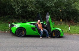 McLaren 570S Coupe, with lorry driver