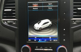 Renault Megane, 2016, screen, blue