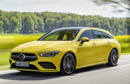 Mercedes-AMG CLA 35 4MATIC Shooting Brake front threequarters action