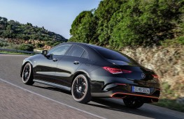 Mercedes-Benz CLA 2019 rear threequarters action