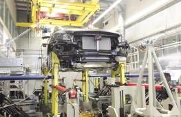 Mercedes M-Class test rig