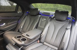 Mercedes S 300 BlueTEC Hybrid, rear seats