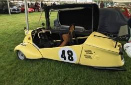 Cholmondeley Power and Speed 2016, Meserschmitt KG200 bubble car, 1956