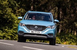 MG ZS EV head-on action