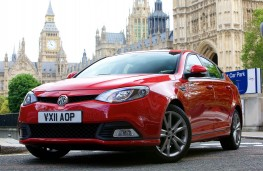 MG6, badge, front static
