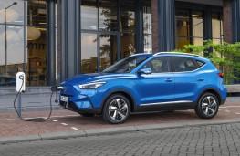 MG ZS EV, 2021, side, charging